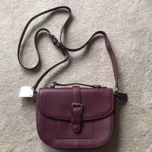 Maroon leather Coach crossbody purse